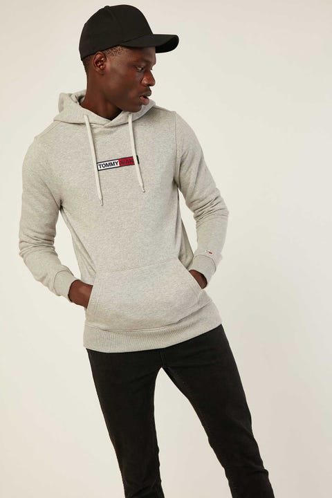 Tommy Jeans TJM Embroided Box Logo Hoodie LT Grey HTR