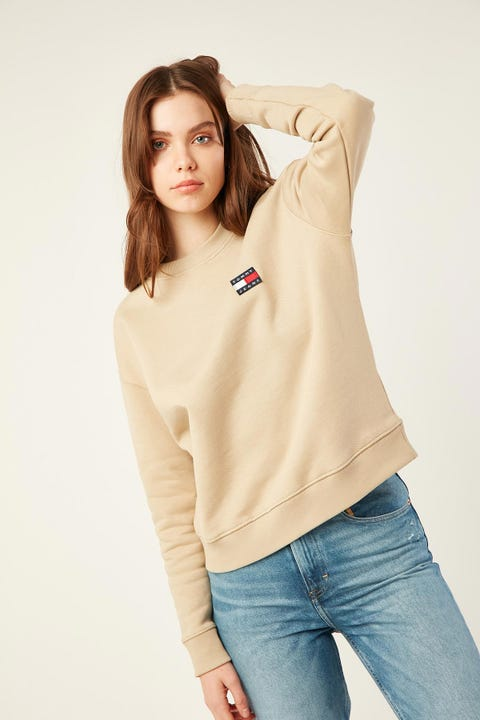 TOMMY JEANS Badge Crew Silt