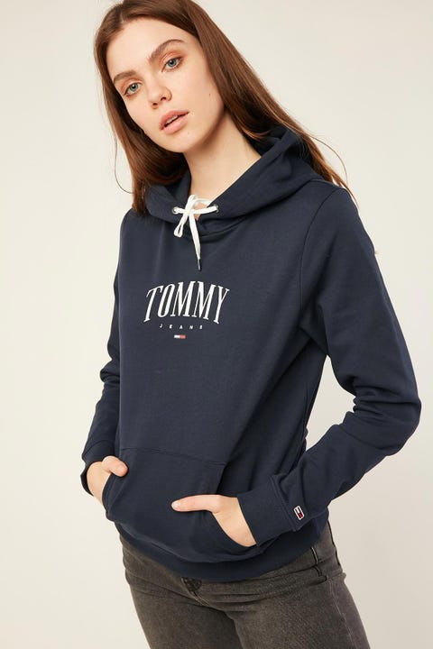 TOMMY JEANS Essential Logo Hoodie Twilight Navy