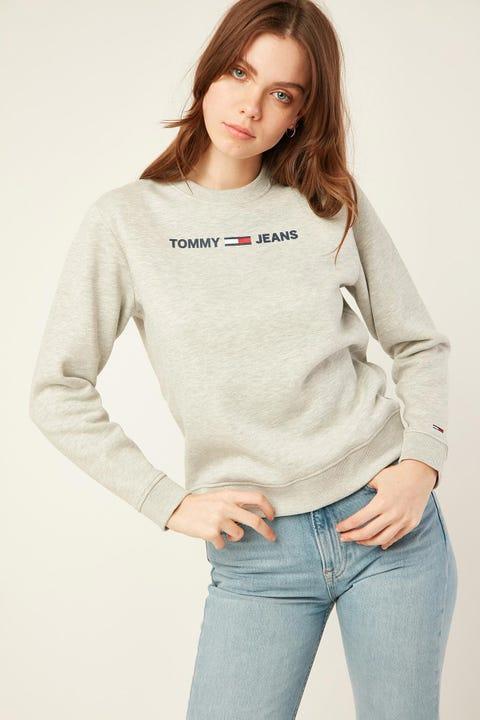 TOMMY JEANS Essential Logo Sweatshirt Grey Heather