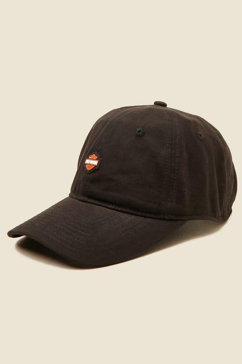 HARLEY-DAVIDSON Small B&S Logo Cap Washed Black