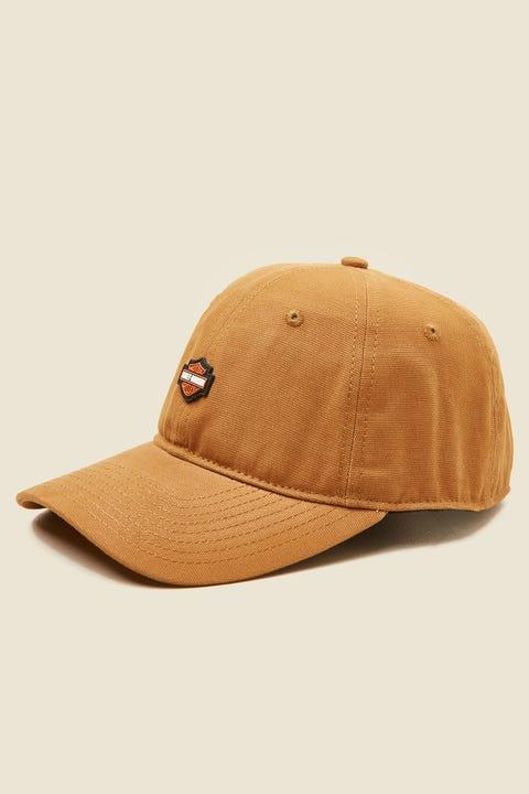 HARLEY-DAVIDSON Small B&S Logo Cap Golden Brown