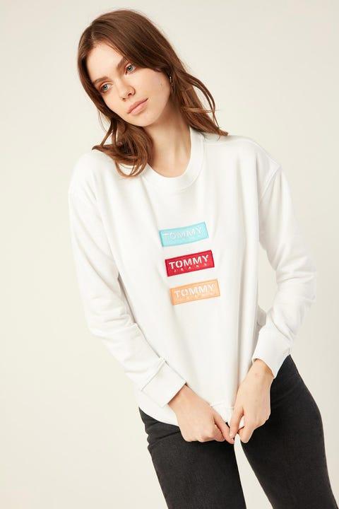 TOMMY JEANS Modern Logo Sweatshirt White