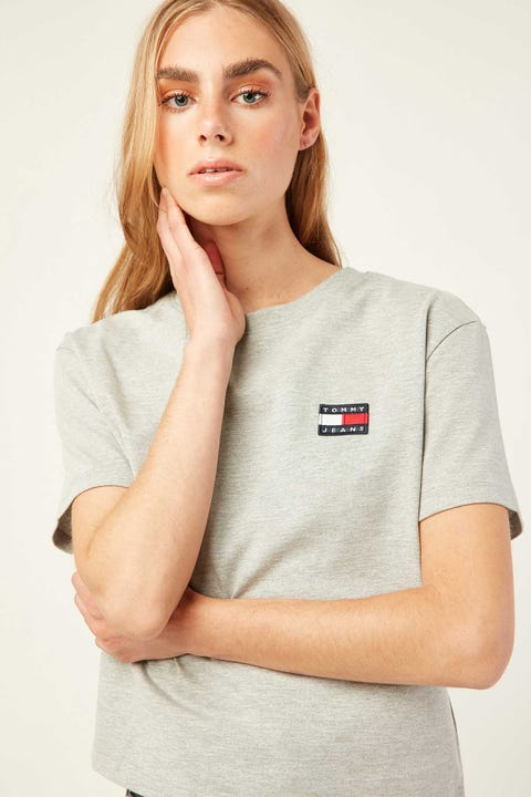 Tommy Jeans Badge Tee Grey Heather