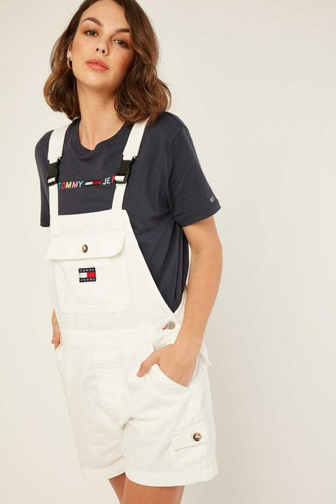 TOMMY JEANS Dungaree Short White Twill