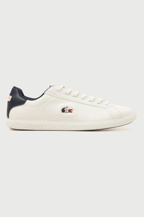 Lacoste Graduate Tri White/Navy/Red