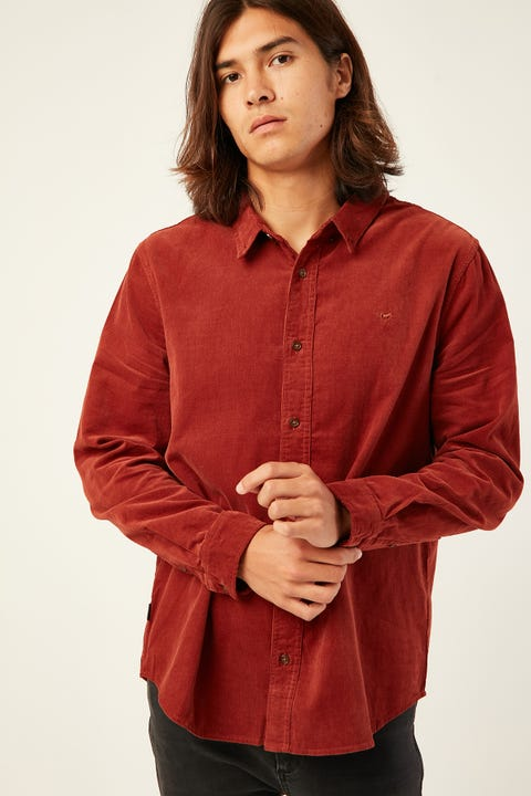 Wrangler Doing It Clean Shirt Spiced Cord
