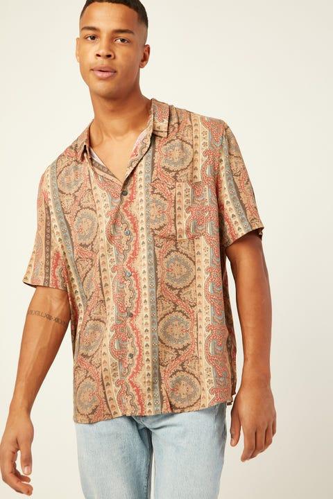 WRANGLER Garageland Shirt Paisley Panel