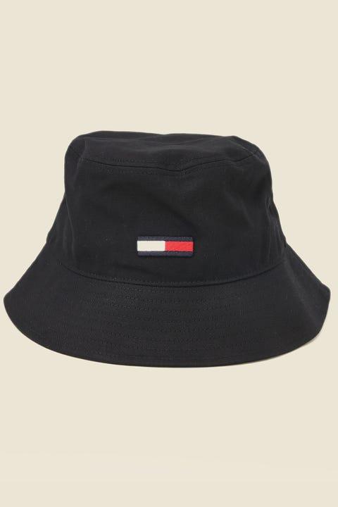 TOMMY JEANS Flag Bucket Hat Black