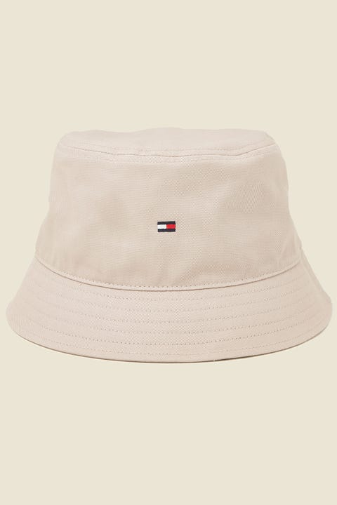 TOMMY JEANS Flag Bucket Hat Stone