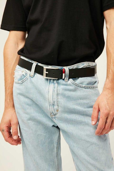 Tommy Jeans Corp Leather Belt Black