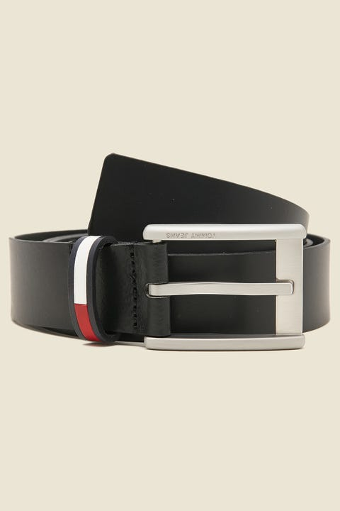 Tommy Jeans Corp Leather Belt Black