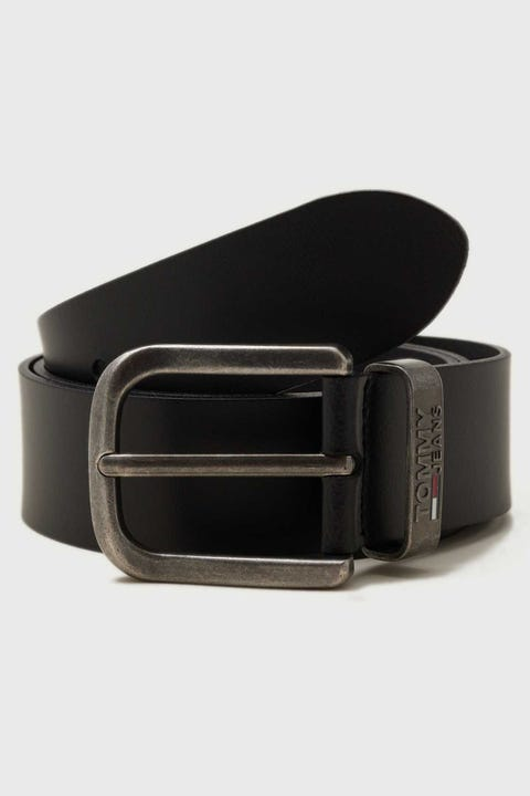 Tommy Jeans Metal Loop Belt Black