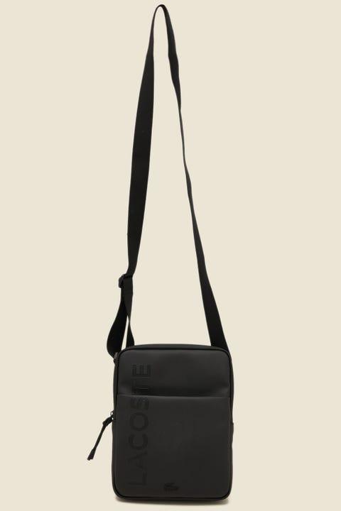 LACOSTE L.12.12 Concept M Flat Crossover Bag Black