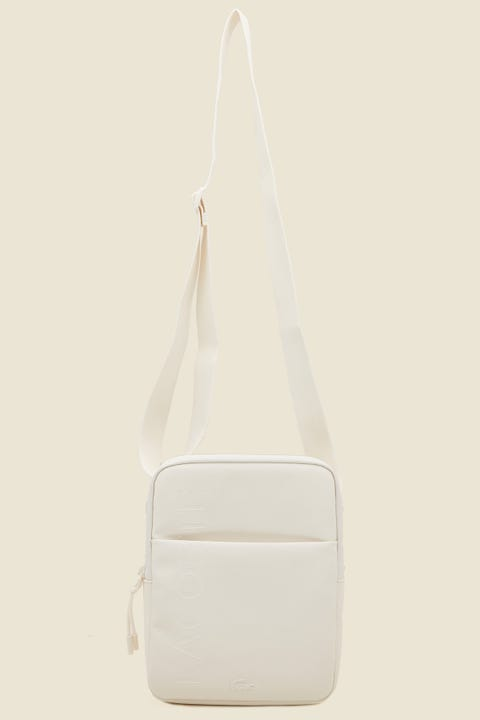LACOSTE L.12.12 Concept M Flat Crossover Bag Marshmallow