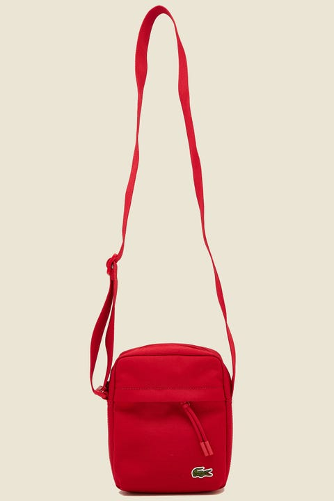 LACOSTE Neocroc Vertical Camera Bag Tango Red