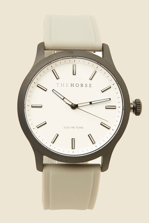 The Horse The Coast Watch Matte Black/White/Grey Silicone