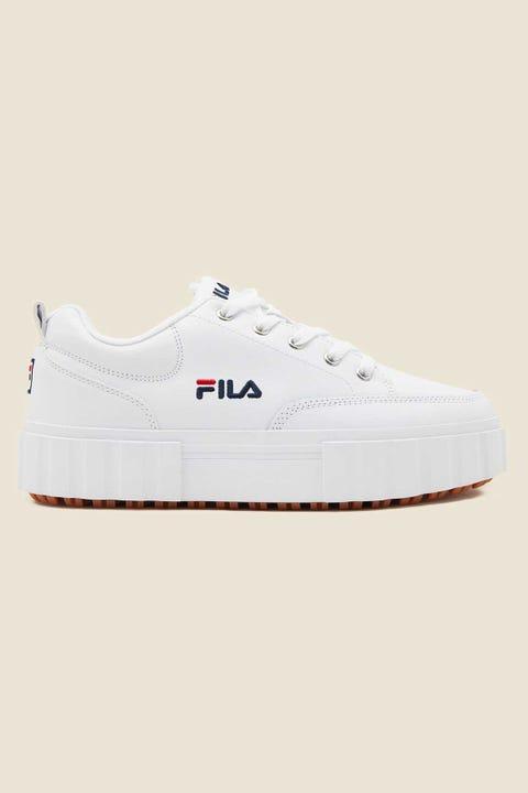 FILA Sandblast Low White/Fila Navy/Red