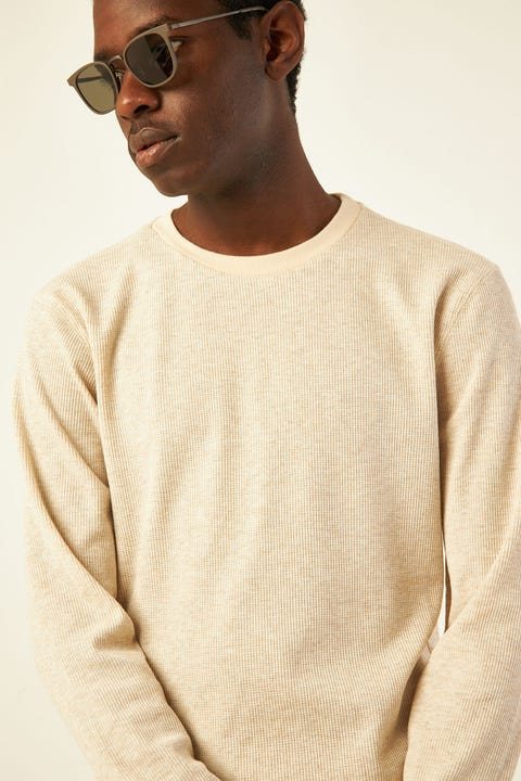 COMMON NEED Comfort Longsleeve Tee Oatmeal