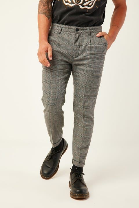 Abrand A Cropped Slim Check Pant Let's Ride