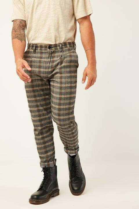 ABRAND A Cropped Slim Pant Check Don't Sweat
