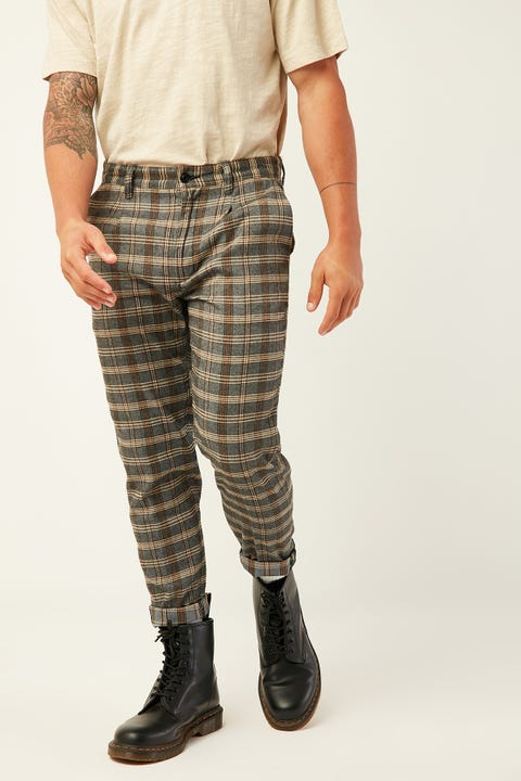 ABRAND A Cropped Slim Pant Check Don't Sweat