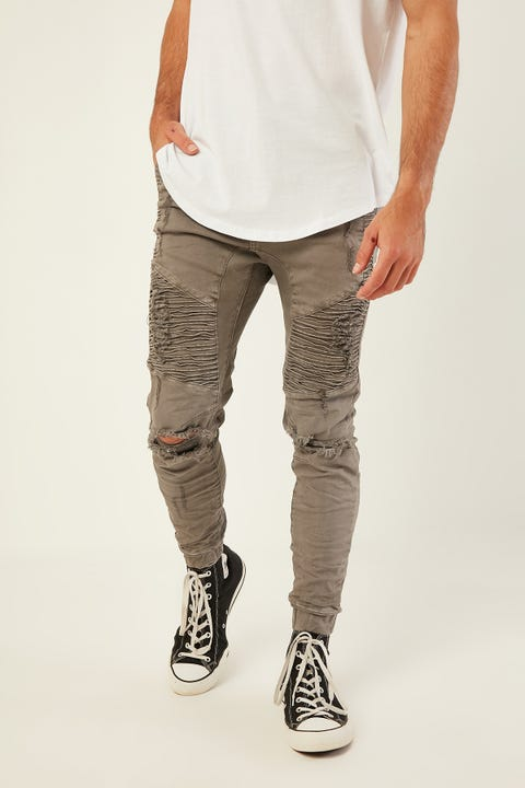 KISS CHACEY Zeppelin Denim Jogger Dark Stone