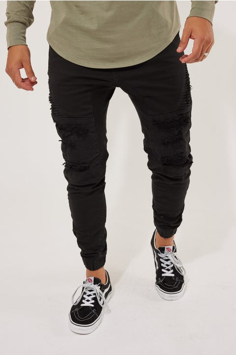 Kiss Chacey Hydra Denim Jogger Jet Black