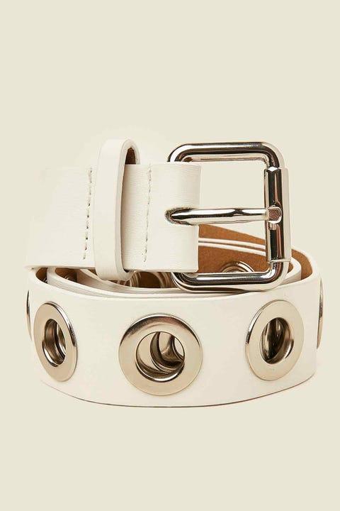 TOKEN Chunky Eyelet Belt White