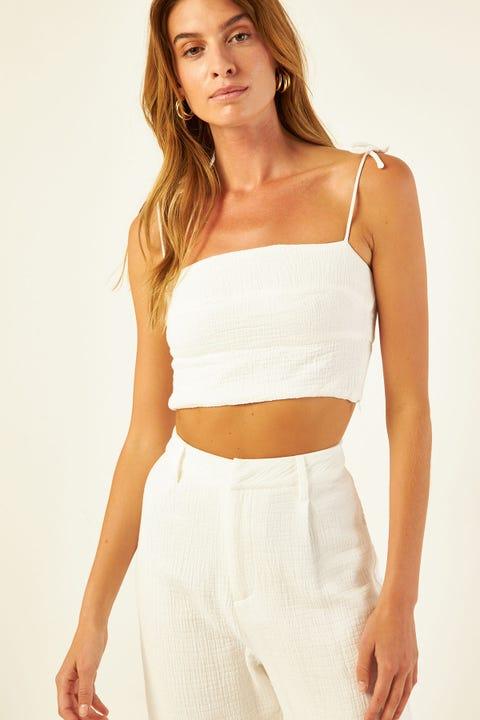 PERFECT STRANGER Flores Cami White