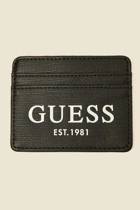GUESS ORIGINALS Outfitter Card Case Black