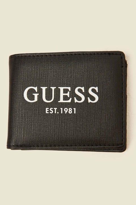 GUESS ORIGINALS Outfitter Bi-Fold Wallet Black