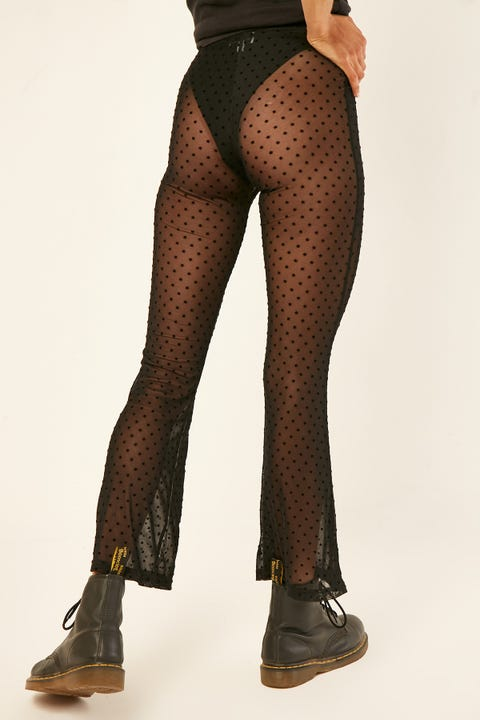 LUCK & TROUBLE Stellar Mesh Flares Black