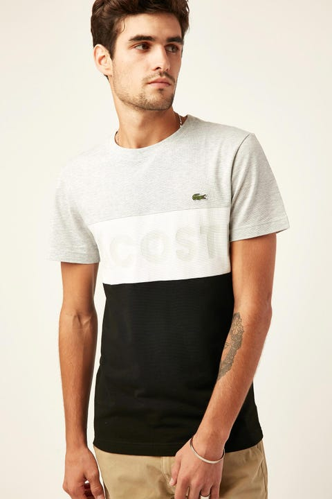 LACOSTE Lifestyle Light Knit Pocket Tee Silver