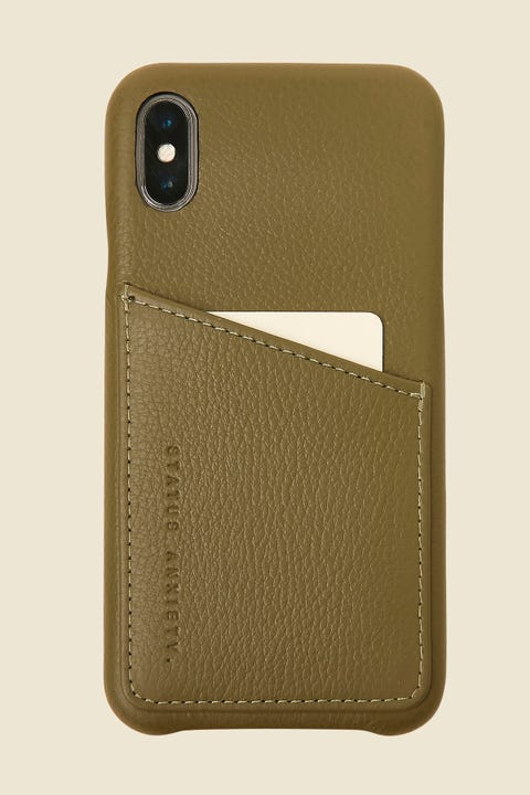 STATUS ANXIETY Hunter & Fox iPhone X Khaki