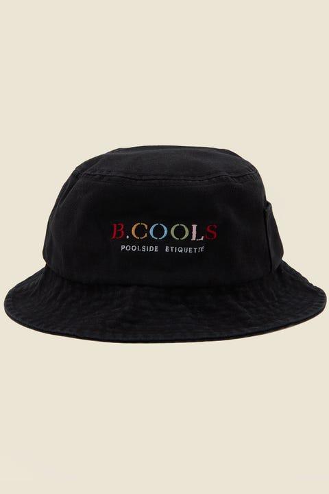 BARNEY COOLS Bucket Hat Black Embro
