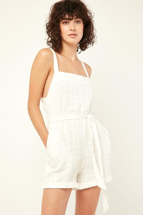 PERFECT STRANGER Sanctuary Playsuit White