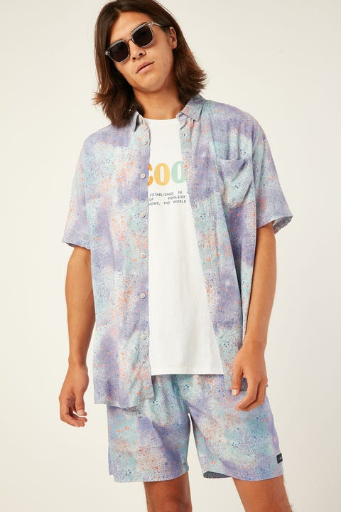 BARNEY COOLS Holiday SS Shirt Sea Spray