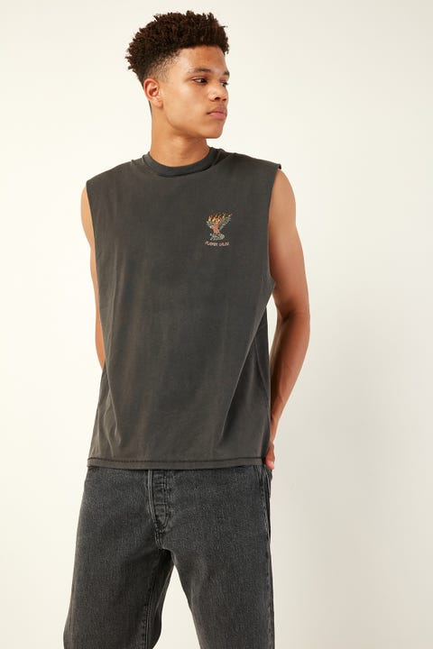 BARNEY COOLS Galah Muscle Tee Pigment Black