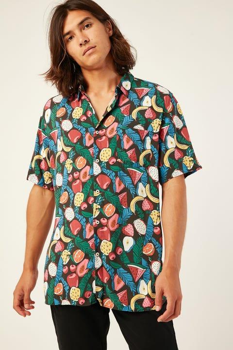 BARNEY COOLS Holiday SS Shirt Black Fruits