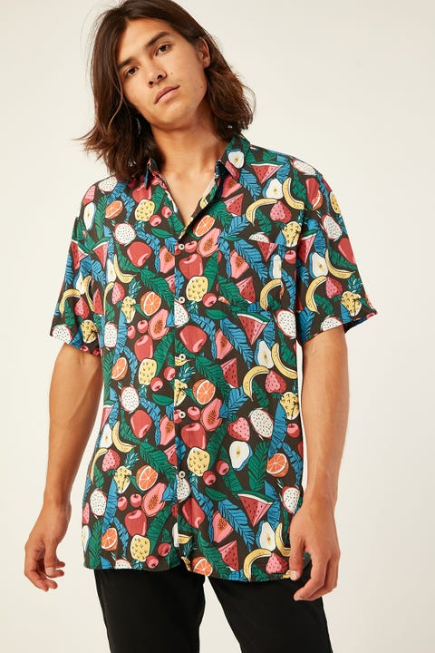 BARNEY COOLS Holiday SS Shirt Black Fruits