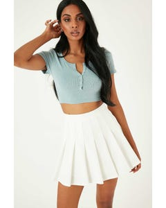 Luck & Trouble Schools Out Mini Skirt White
