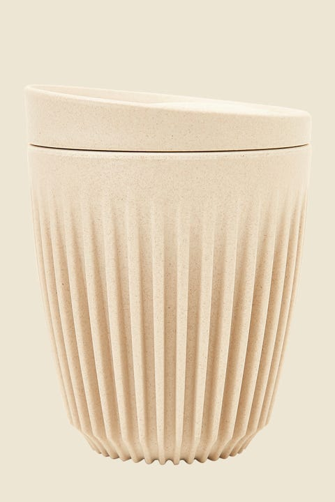 Huskee 8oz Cup & Lid Natural