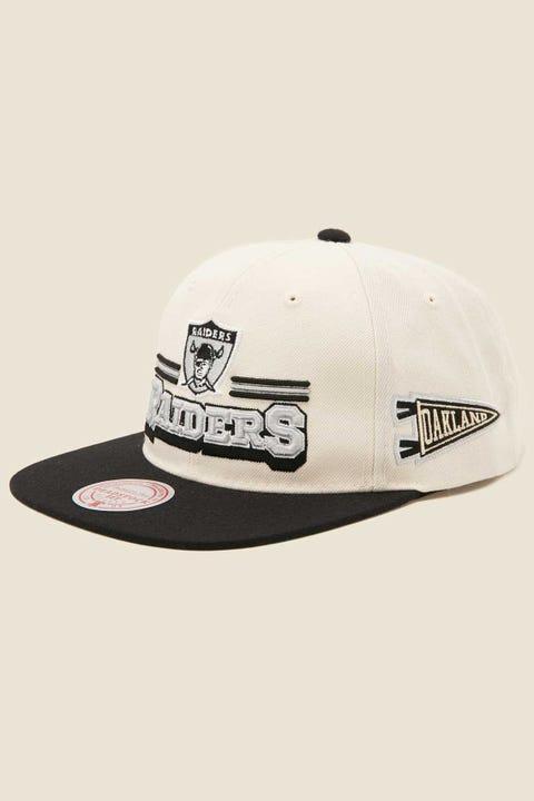 Mitchell & Ness Oakland Raiders Fan Banner Snapback White/Black/Team Colour