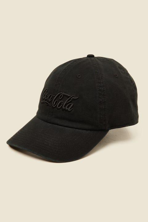 AMERICAN NEEDLE Coca Cola Tonal Ballpark Cap Black
