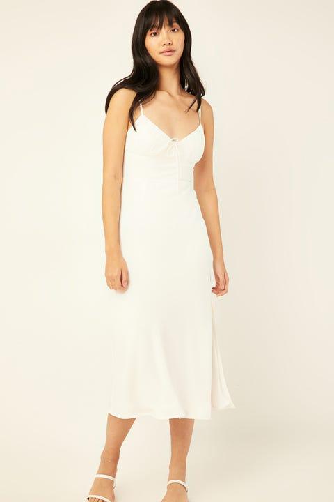 PERFECT STRANGER Dream State Midi Dress White