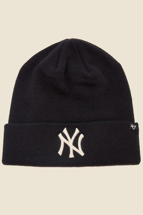 47 Brand Raised Cuff Knit NY Yankees Navy/White