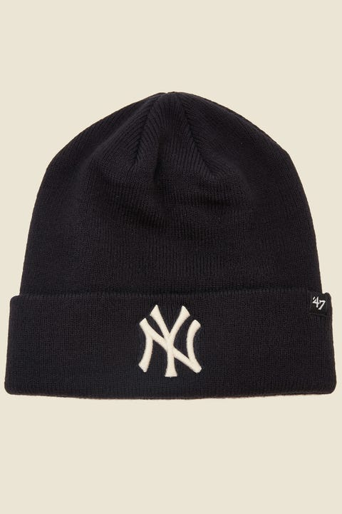 47 Brand Raised Cuff Knit NY Yankees Navy/White
