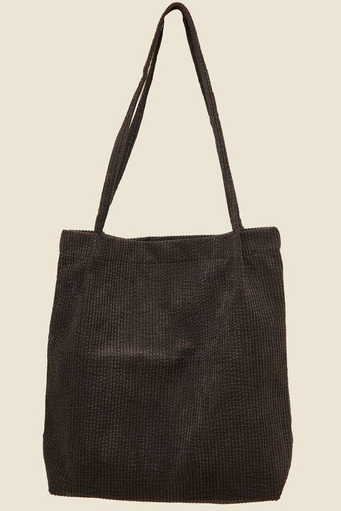 Token Cord Tote Bag Black