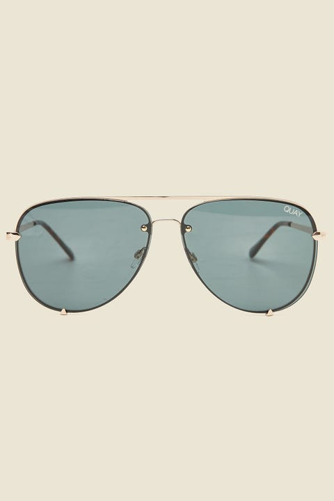 QUAY High Key Rimless Gold/Teal